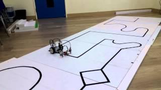 ev3 line following robot with 3 sensors