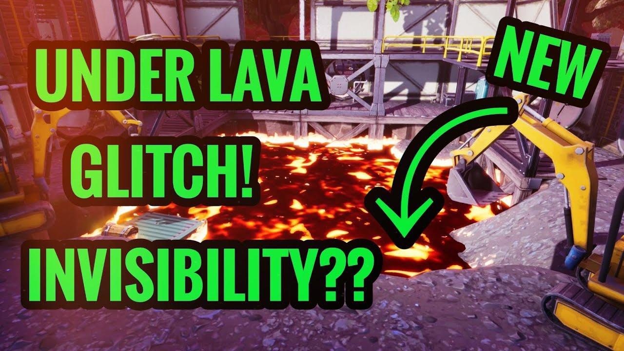 new invisibility glitch under lava in dusty divot fortnite - lava glitch fortnite