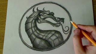 How to draw the Mortal Kombat Logo