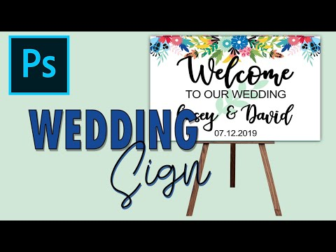 WEDDING SIGN AND EASEL MOCKUP HOW TO MAKE IN PHOTOSHOP