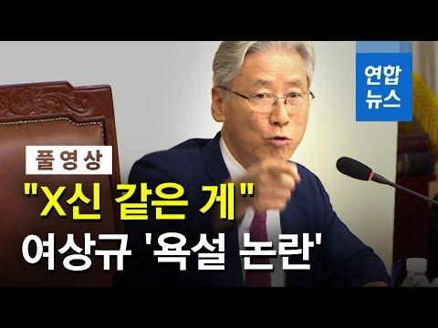 """[풀영상] 법사위 국정감사 욕설 논란...여상규 """"X신 같은 게"""" / 연합뉴스 (Yonhapnews)"""