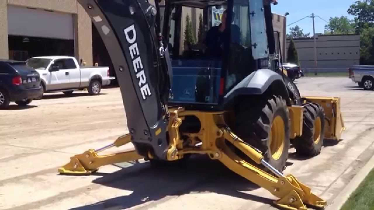 John Deere Side By Side >> John Deere 410K TMC walkaround - YouTube