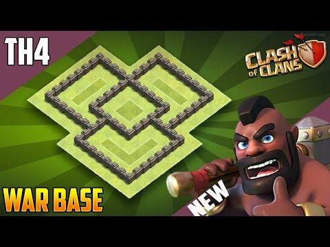 New BEST Town Hall 4 (TH4) WAR/TROPHY Base 2018!! COC Th4 War Base Design [DEFENCE] - Clash of CLans