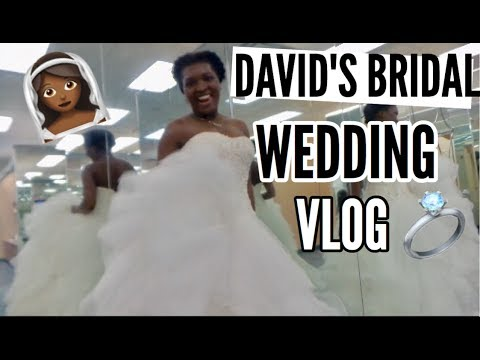 Wedding Dress Shopping @ David's Bridal ft. SpoonfulofDia | Thee Mademoiselle ♔