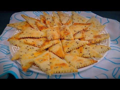 Печенье галетное с семенами льна/ Антикризисный постный и полезный перекус /Cookies