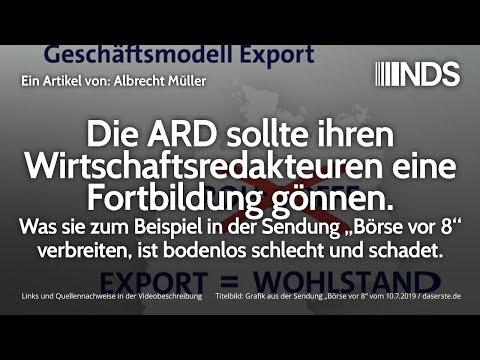 Die ARD sollte ihren Wirtschaftsredakteuren eine Fortbildung gönnen | Albrecht Müller