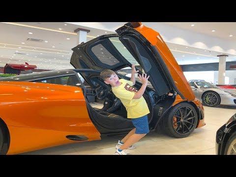 ALİ Ve EN HIZLI ARABALAR Kid In The Car Shop