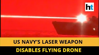 US Navy successfully conducts laser weapon test, destroys unmanned drone