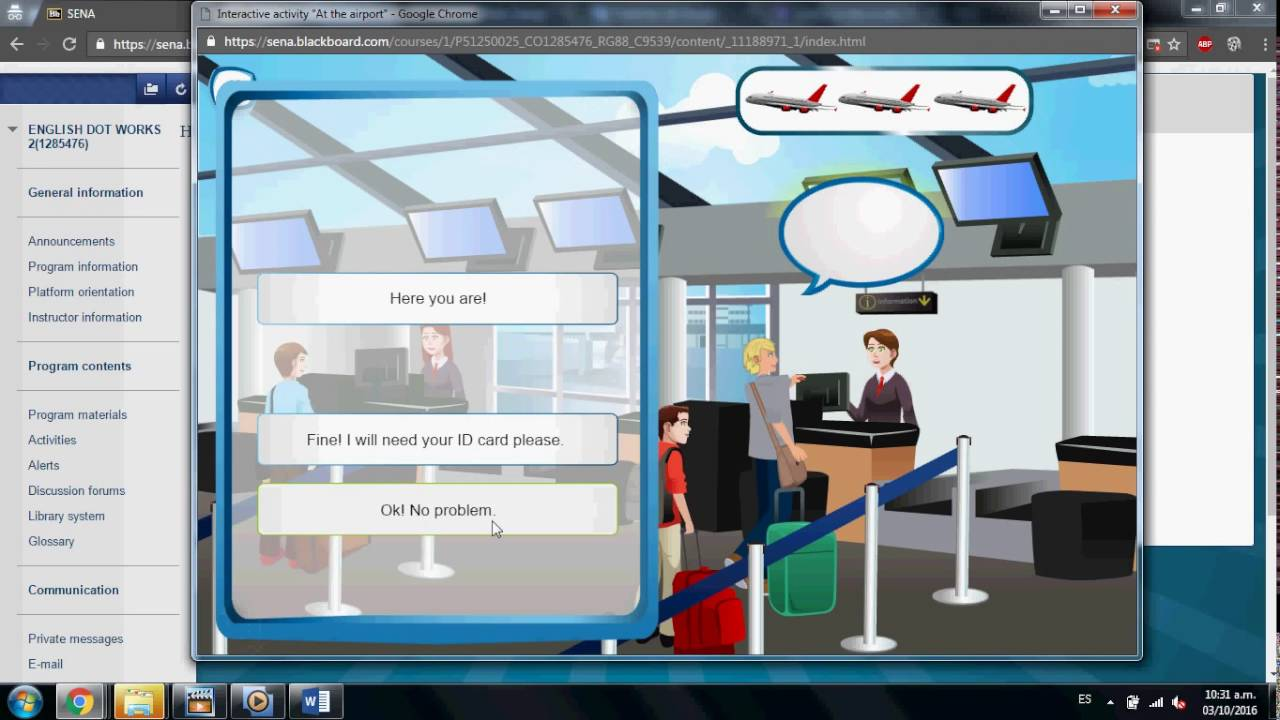 "Evidence: Interactive activity ""At the airport"" - YouTube"