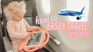 PRO TIPS FOR TRAVELING WITH KIDS! / Day In The Life of a Mom 2018 Video