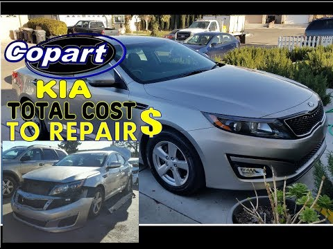 COST TO REPAIR THE COPART 2015 KIA FROM  salvage yard