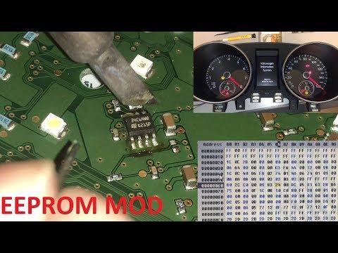 mk6 Golf cluster enable needle sweep (staging) via EEPROM programming