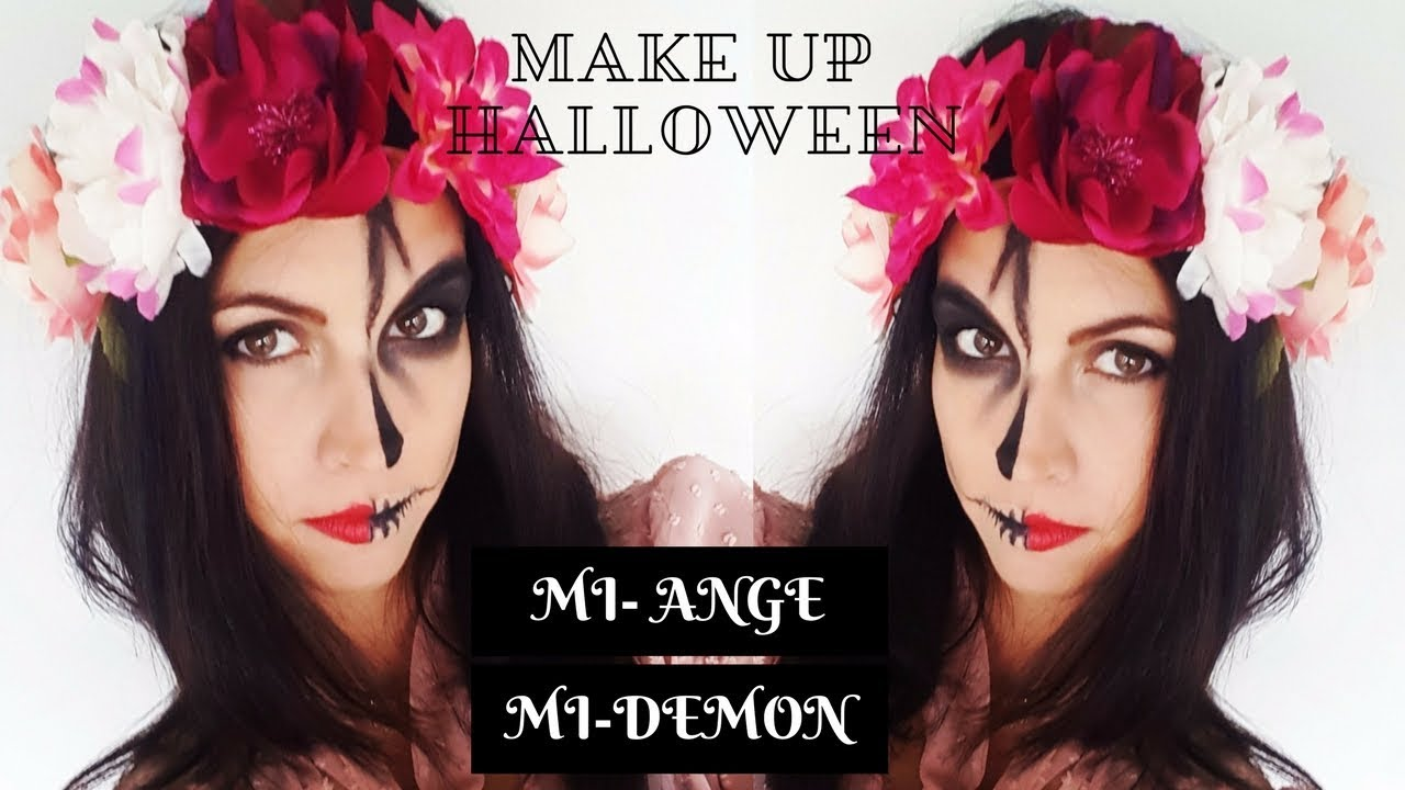 Très MAQUILLAGE HALLOWEEN MI ANGE MI DEMON TUTO BY I NANA - YouTube SW19