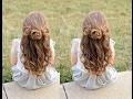 Flower girl hairstyles - braided flower buns