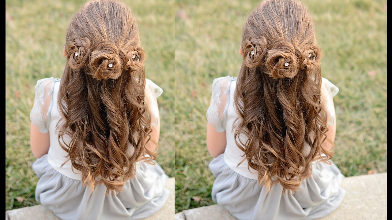 flower girl hairstyles - braided flower buns