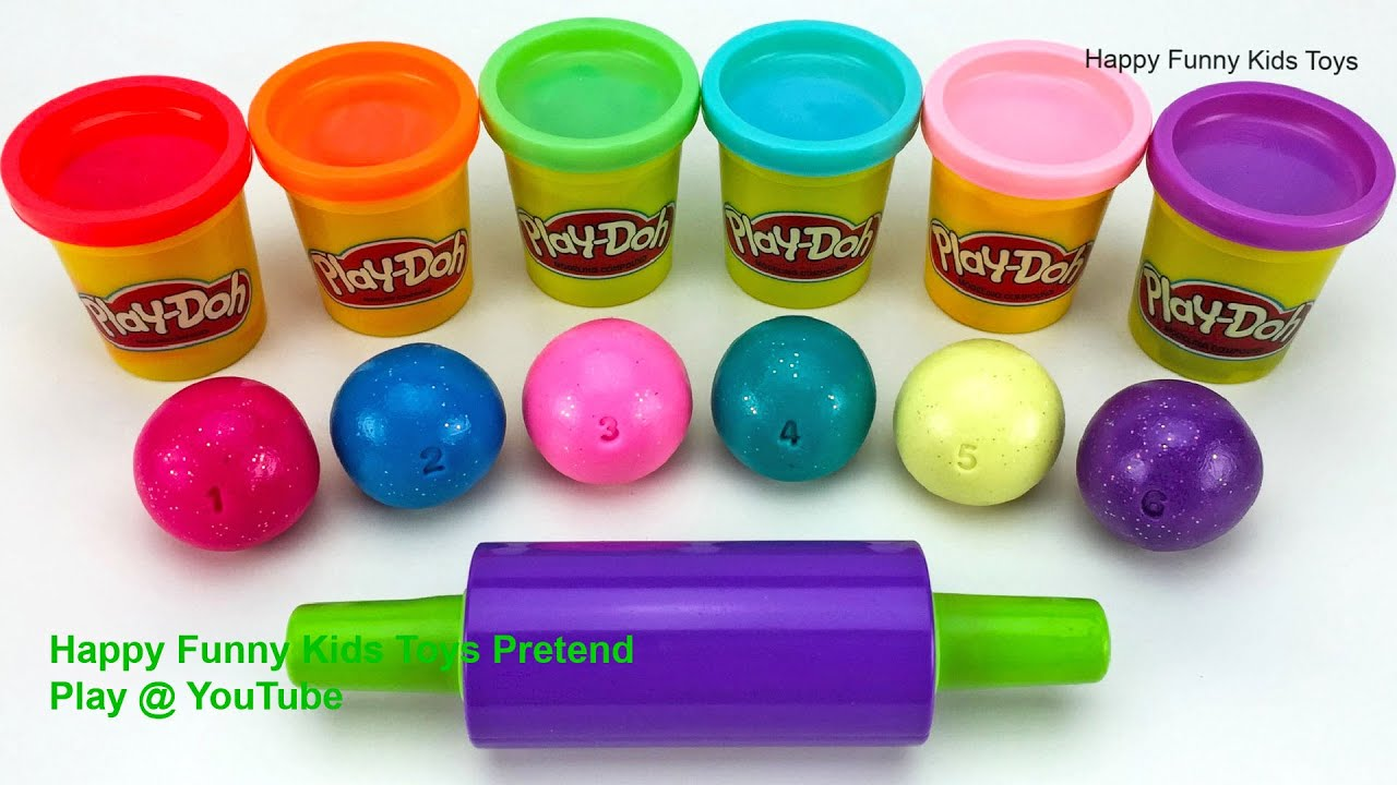 Learn Colors with Play Doh and Cow Fish Molds | Surprise Eggs, Puppy Surprise Toys