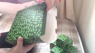 Papercraft Minecraft tree | tutorial