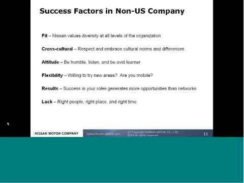 Heath Holtz '05, VP Supply Chain Nissan Europe: LGO global careers webinar