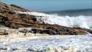 Surf at Reid State Park, Georgetown Maine May 8, 2013