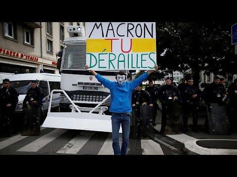 Greve nos comboios é teste para Macron