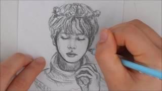 Drawing Jin | flower crown Jin