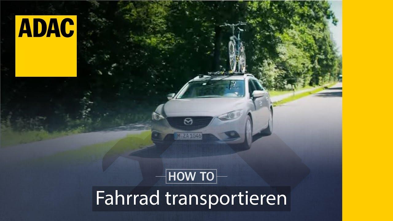 Adac How To Fahrrad Transportieren I Adac