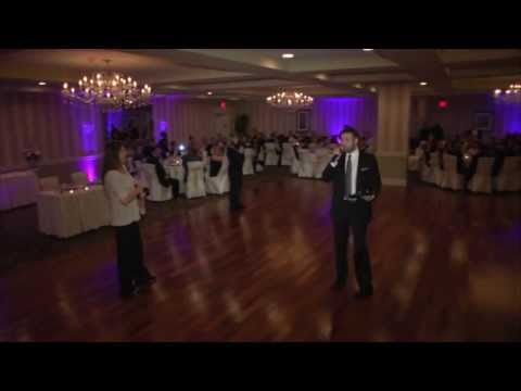 Wedding DJ Jay Thomson Performing Bridal Party Introductions with a  Different Song for Each Couple