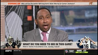 ESPN FIRST TAKE | Stephen A. Smith on Saints at Rams; What do you need to see in this game?