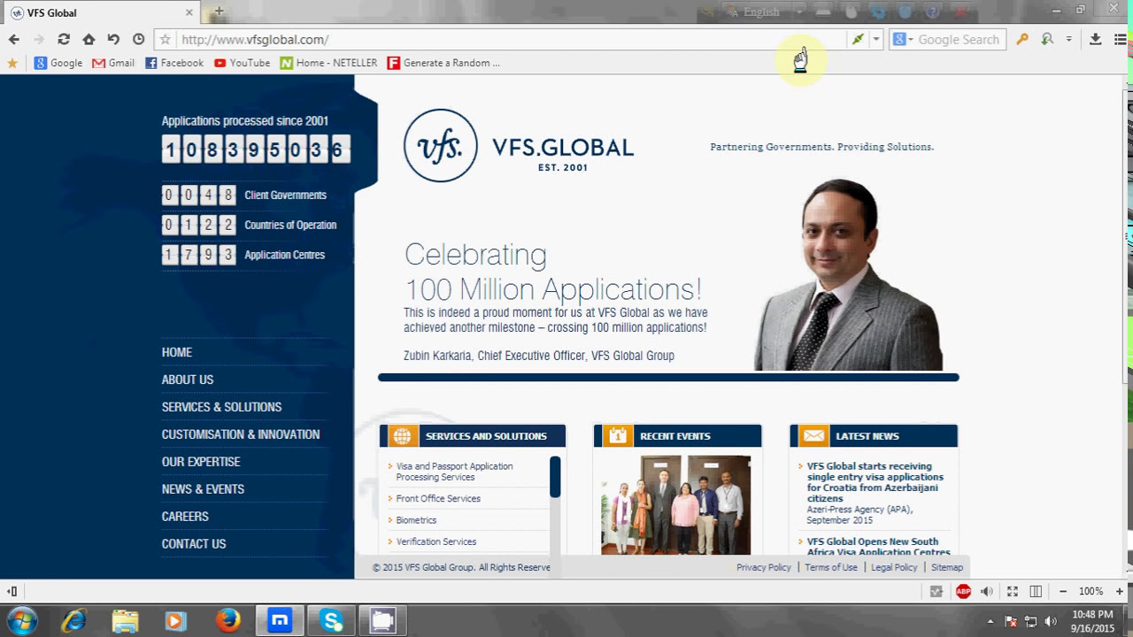 All country visa check & Application form Fill-up in vfs-global com