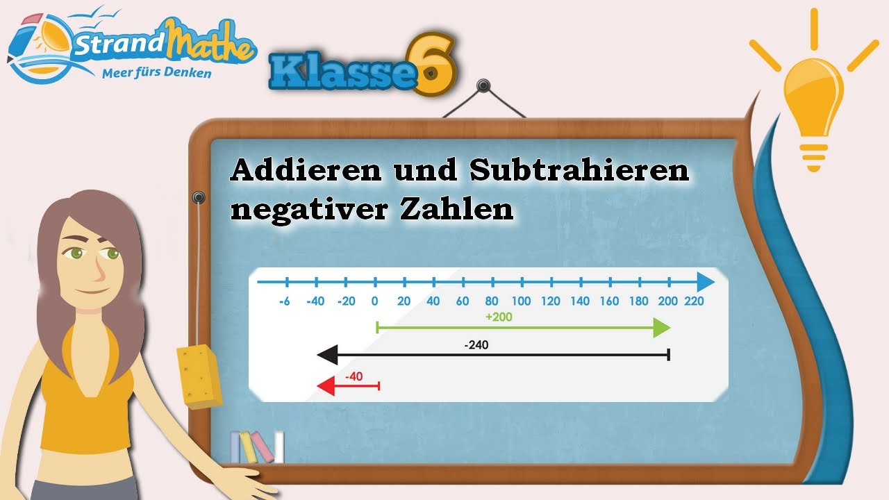 Negative Zahlen Addition und Subtraktion || Klasse 6 ☆ Wissen - YouTube