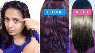 ಮನೆಯಲ್ಲೇ ಪರ್ಮನೆಂಟ್ ಸ್ಟ್ರೈಟ್ ಹೇರ್ | Permanent Hair Straightening At Home | DIY Tutorial Kannada