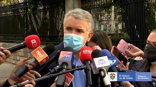 Duque inicia la mesa de diálogo y pide la libre circulación de medicamentos