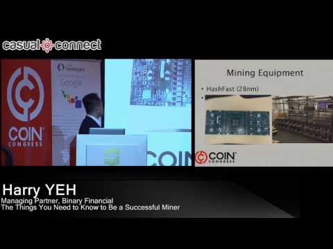 Crypto Currency Mining: The Things You Need to Know to be a Successful Miner | Harry YEH