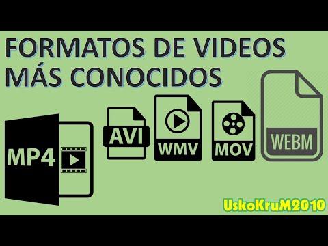 Formatos De VIDEO MÁS CONOCIDOS : AVI, MOV, MPEG, FLV, WMV [USKOKRUM2010]