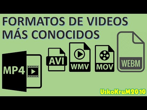 Formatos De VIDEO MÁS CONOCIDOS : AVI, MOV, MPEG, FLV, WMV [USKOKRUM2010]