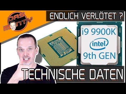 INTEL CORE i9/i7/i5 9900K/9700K/9600K - Technische Daten - Sind sie wirklich verlötet ? | DasMonty