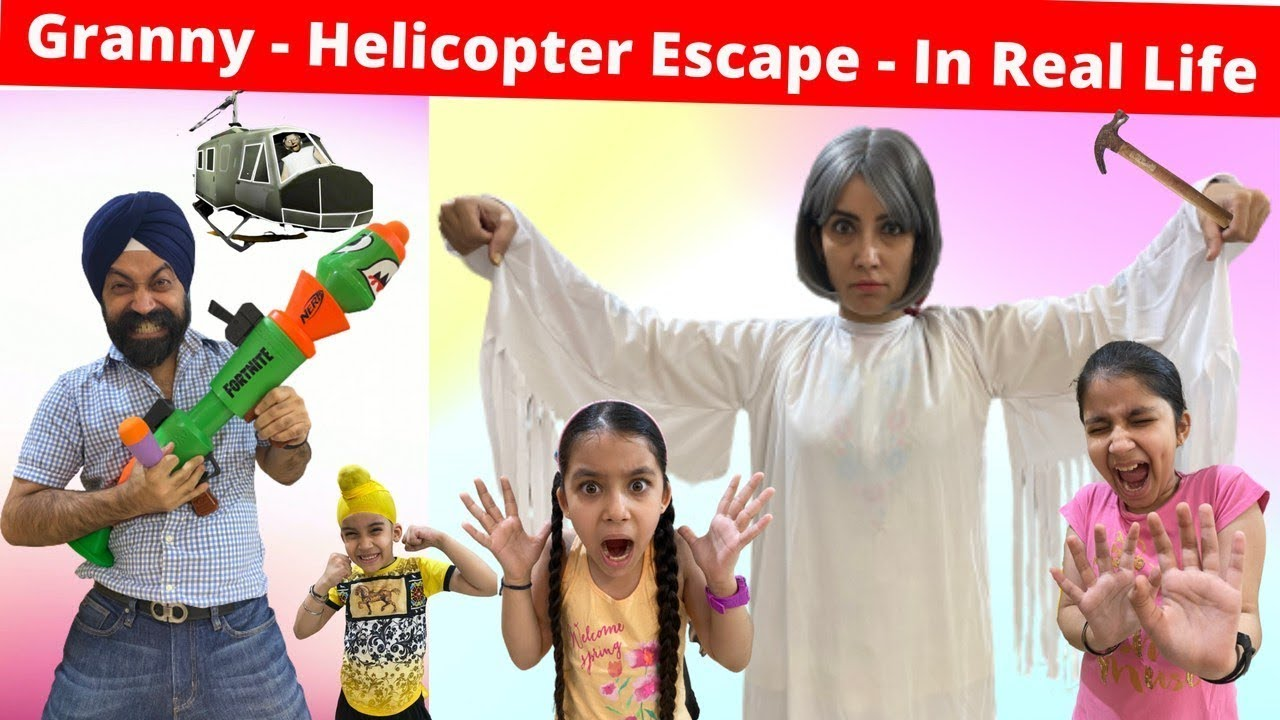 Granny Horror Game - Helicopter Escape - In Real Life | RS 1313 VLOGS | Ramneek Singh 1313