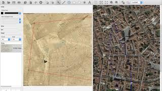 Carta catastale storica su mappa satellitare