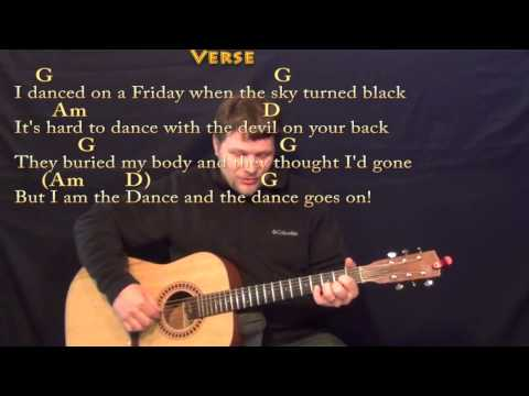 Lord of the Dance - Fingerstyle Guitar Cover Lesson in G with Chords/Lyrics
