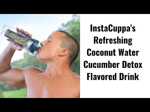 Refreshing Coconut Water Cucumber Detox Flavored Drink