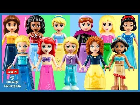 ♥ Learn Colors Wrong Legs LEGO Disney...