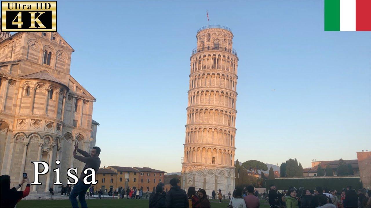 ??Pisa Winter Walk - Leaning Tower of Pisa