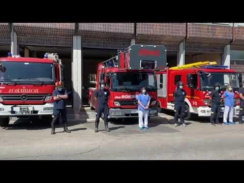 Los bomberos, también de luto