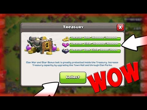 WHAT HAPPENS WHEN YOU HAVE MAX LOOT IN THE TREASURY IN Clash Of Clans?!