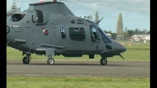 Augusta A109 Helicopter from RNZAF at New Zealand 2012.