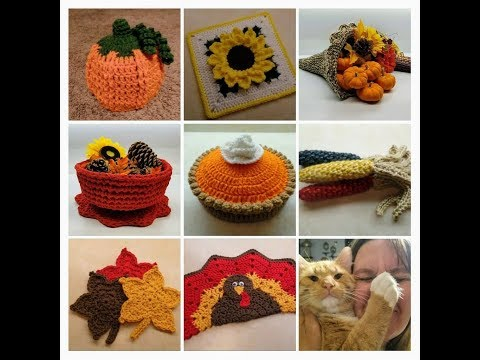 How To Crochet Fall Decor 8 Video Crochet Tutorials COMPILATION VIDEO #1