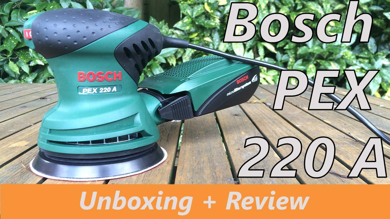 Bosch Pex 220 A : bosch pex 220 a random orbit sander review unboxing youtube ~ A.2002-acura-tl-radio.info Haus und Dekorationen