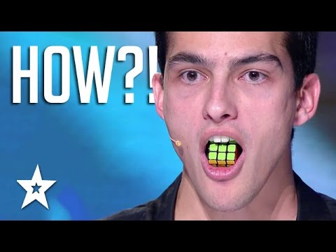 TONGUE TWISTER! Guy Solves Rubik's Cube With TONGUE | Got Talent Global