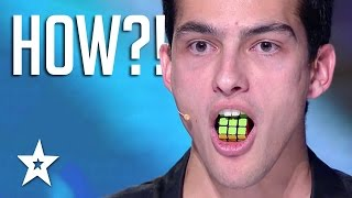 TONGUE TWISTER! Guy Solves Rubik's Cube With TONGUE | Got Talent Global thumbnail