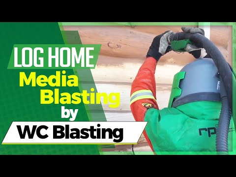 Log Home Media Blasting 2017 by WC Blasting Edmonton, Alberta